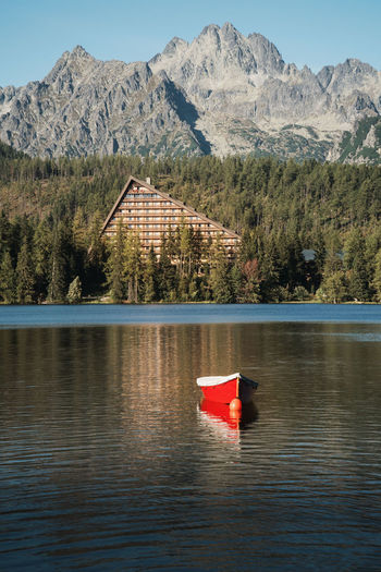 a red boat at