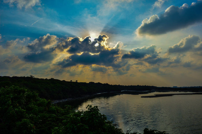 70mm Nikon Beauty In Nature Cloud - Sky Day Folloeforfollow Follow Follow4follow Like Like4like Likeforlike Nature No People Outdoors River Scenics Sky Sunset Tranquil Scene Tranquility Tree Water
