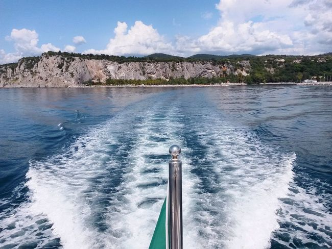 Summer Views Sistiana Trieste Italy Photography In Motion Sailing Navigation Boat Trip Boats And Water Weak Scia Perspectives On Nature