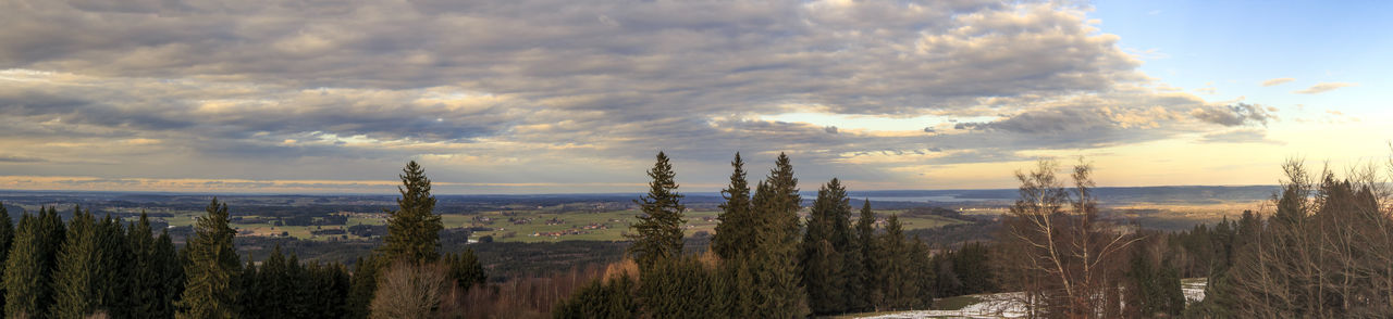 view from Peißenberg Beauty In Nature Cloud - Sky Day Grass Growth Landscape Mountain Nature No People Outdoors Plant Scenics Sky Sunset Tranquility Tree