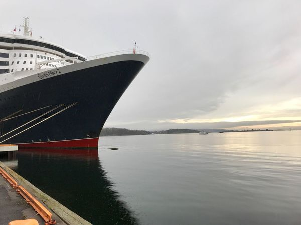 Havnepromenaden i Oslo. Akershusstranda. Transportation Nautical Vessel Water Mode Of Transport Sky Sea Cloud - Sky Nature No People Outdoors Beauty In Nature Scenics Day Oslo Love Queenmary2