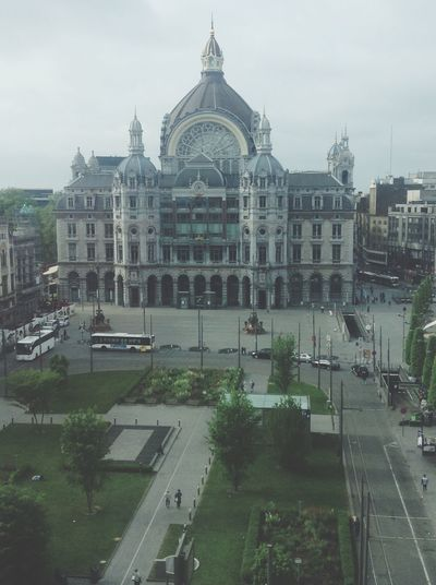 Architecture Built Structure Building Exterior Façade Outdoors Religion Station Antwerpen Day Sky City No People Tree