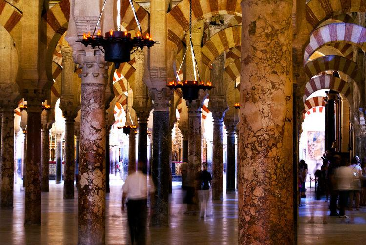 Mezquita Catedral de Córdoba Arch Architectural Column Architecture Building Built Structure Cathedral Córdoba Illuminated Mezquita Morocco SPAIN