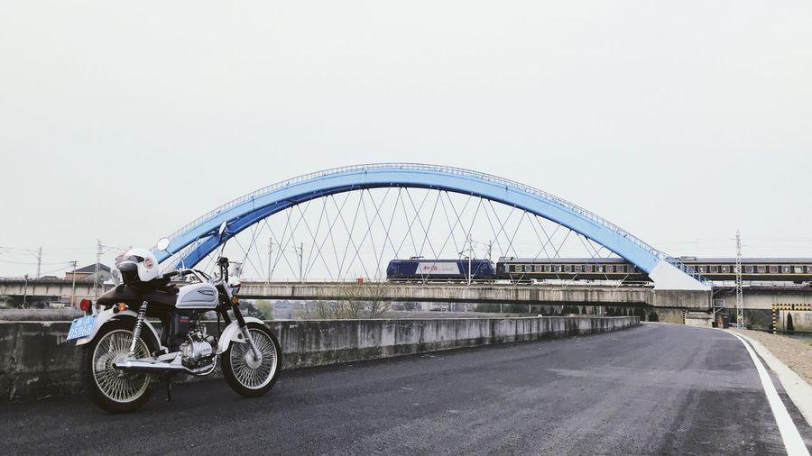 Weekend Roadtrip Train Motorcycle Transportation Mode Of Transportation Bridge Architecture Built Structure Land Vehicle Road Travel Motor Vehicle
