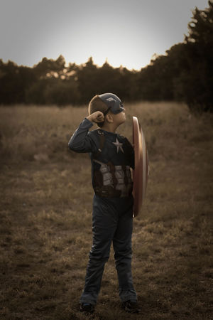 One Person Standing Outdoors Sky Day Portrait Human Face Son Dramatic Sky Captainmerica Captainamericacivilwar Comic Heroes Comic Art Close-up Confidence  Headshot Childhood Child Headwear One Boy Only