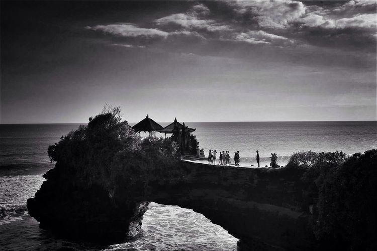 Tanah Lot Landscape Blackandwhite Streetphotography Traveling