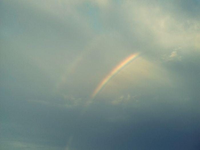 Vapor Trail Rainbow Refraction Sky