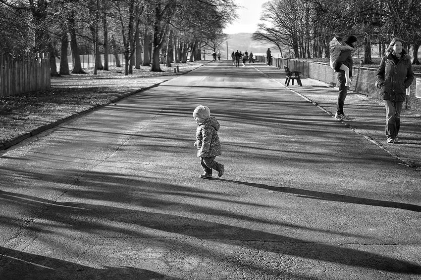 Cold at the Zoo . Childhood Walking Outdoors Blackandwhite Monochrome