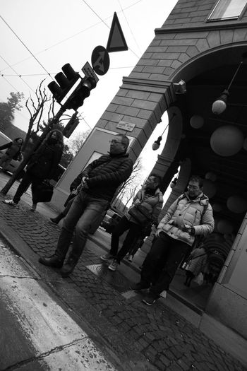Black And White Group Of People Italian City Oriental People Real People Street Street Photography Traffic Light  Waiting At The Traffic Light Stories From The City