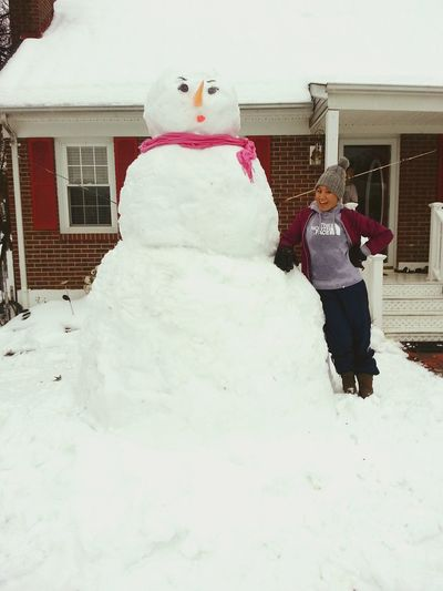 DoYouWannaBuildASnowman Snowwoman Snow ❄ Snowday ⛄❄ Eyebrows On Fleek Eyelashes On Fleek Too