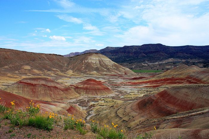 Beautiful Painted Hills in Eastern Oregon Arid Climate Destination Geology John Day Fossil Beds Landmark Landscape National Monument Oregon Outdoors Painted Hills Remote Rugged Beauty Scenic Tranquility Vacation