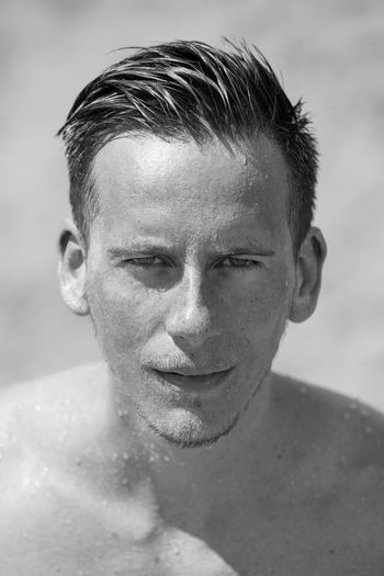 Portrait at the beach Actor Blackandwhite Blackandwhite Photography Close-up Focus On Foreground Front View Gay Gay Boy Handsome Headshot Human Face Human Hair Looking At Camera One Mid Adult Man Only Person Portrait Portrait Photography Roman Haubner Serious Sexyboy Sitges SPAIN Water Young Adult Young Men
