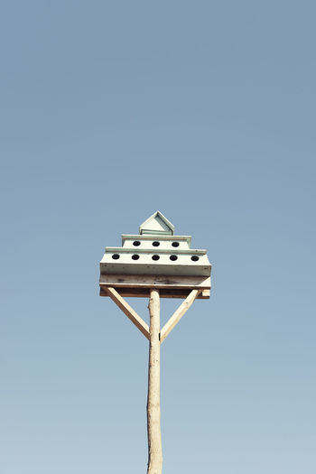 Bird Photography Nature Nesting Bird Birdhouse Birds Birds_collection Blue Clear Sky Copy Space House Low Angle View Nature Nest No People Sky Wildlife