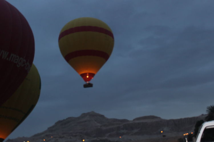Aswan Egypt Baloons Eygpt Luxor Luxor,Egypt Airship Aswan Sunrise Early In The Morning