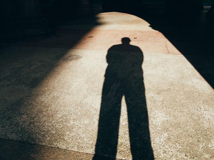 Shadow of man on floor