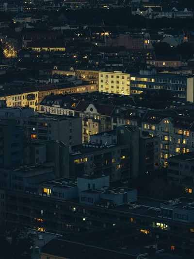 Berlin Apartment Architecture Berliner Ansichten Building Building Exterior Built Structure City City Life Cityscape Community High Angle View Illuminated Night No People Residential District Settlement Street Travel Destinations