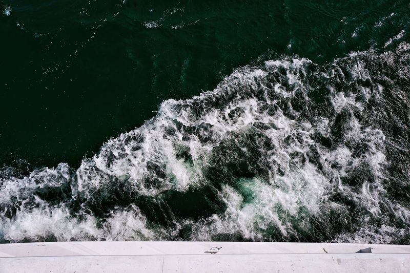 Lifestyles Life In Motion Ocean Waves Ocean Sea Beautiful Nature Trip Traveling Movement Moving Cruising Cruise Bubbles Splashing Waves Splashing Wave Pattern Waves, Ocean, Nature Waves Wave Nature No People Water Day Plant Beauty In Nature Motion High Angle View