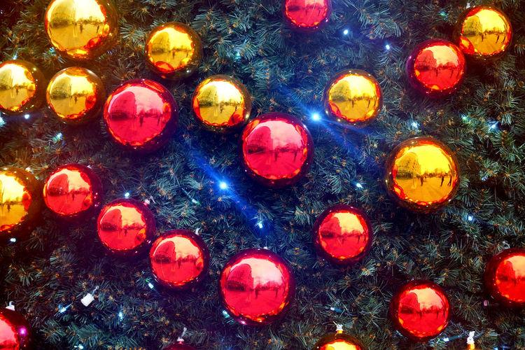 Decoration Illuminated Backgrounds Full Frame Celebration Christmas No People Christmas Decoration Holiday Multi Colored Night Lighting Equipment Christmas Lights Christmas Ornament Glowing Close-up Celebration Event Light Pattern Christmas