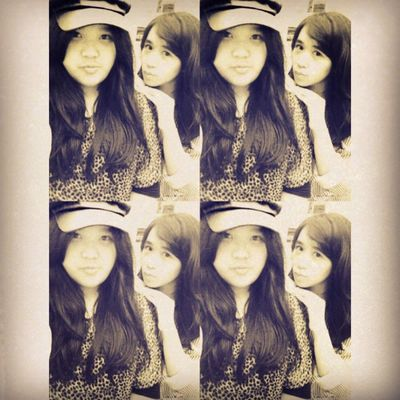 Take a selca again w/ @chiistin1901 ^^ Me Selca TakeAPhoto Takeaselca today with cristin girls beauty cute nice smile L cap pages red blue long black hair indonesian instapict tags4love likeme followme