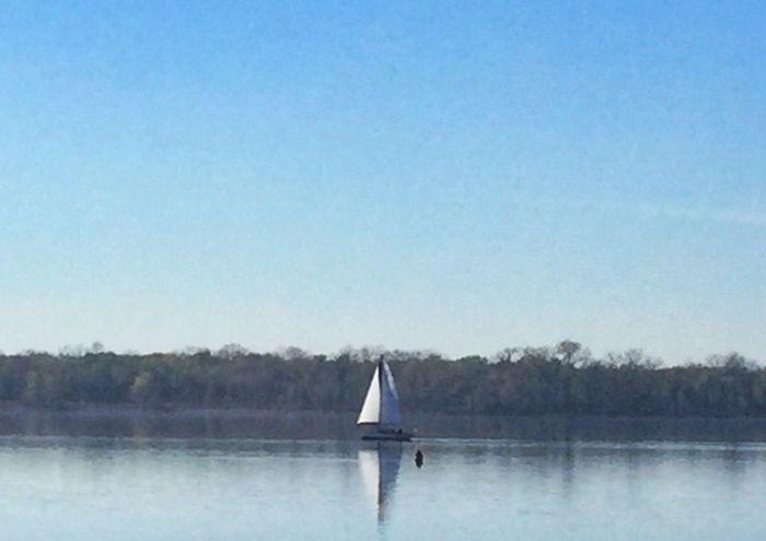 Beautiful day on the river Illinois Alton Illinois