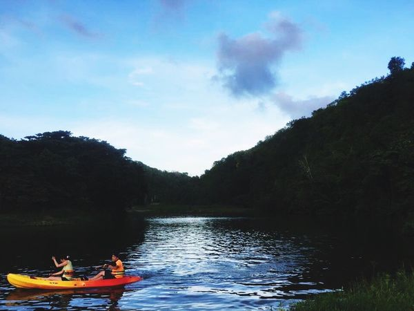 Honeymoon Dominican Republic Kayaking Love Nautical Vessel Water Tranquility Vacations Tranquil Scene Wife Getaway  La Romana People And Places Nature Calm Lake