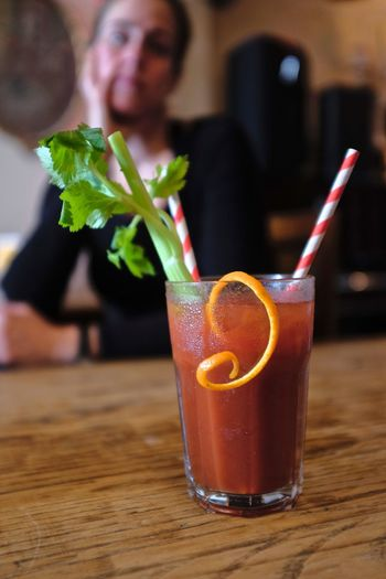 Cocktail Alcohol Bar Bloody Mary Cafe Celery Drink Drinking Straw Food And Drink One Person