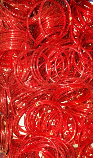 EyeEm Bangles Red Color Is Powerfull Red Glass