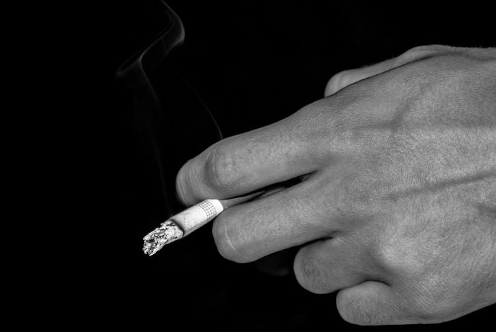 Cigarette  Smoke Hands Black & White High Contrast Shades Of Grey Fine Art Photography