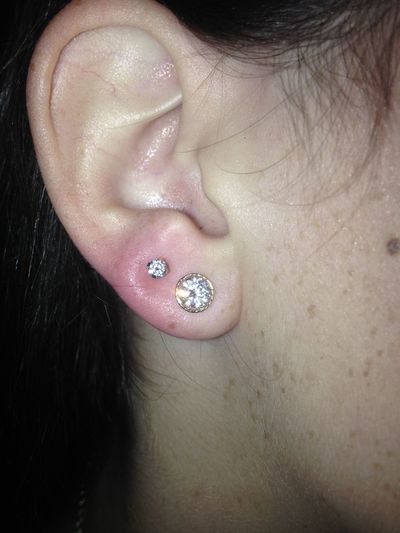 got my second holes today:))