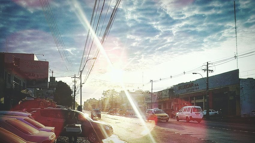 Shining over the city New Life Picturing Individuality Enjoying Life Taking Photos Hello World Hanging Out City Street Paraguay