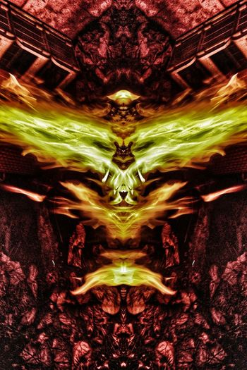 """""""Ariel"""" in the shape of a fiery owl. Ariel Photos Ariel The Angel Fire Portraits Abstract To Reign In Hell Brust Nawfal Johnson Horror And Fantasy Heaven And Hell No People Symmetry Illuminated Hot Burningflame"""