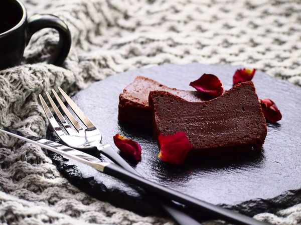 Gluten Free Gâteau au chocolat Chocolate Coffee Time Composition Food And Drink Homemade Food Temptation Valentine's Day  Cake Chocolate Cake Lifestyles Plate Sweet
