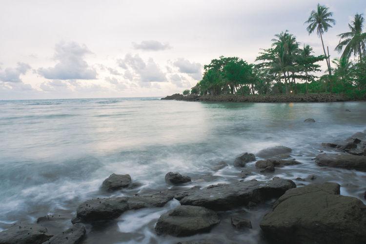 Koh Chang Thailand Beauty In Nature Cloud - Sky Rock Sea Tree Water ทะเล ทะเลไทย หิน เกาะช้าง