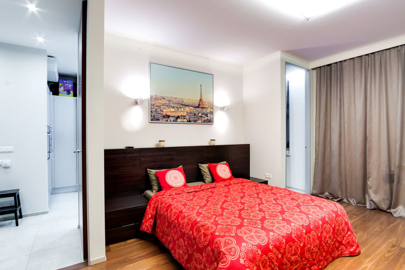Domestic Room Home Interior Furniture Indoors  Home Showcase Interior Bed Bedroom Home Modern No People Pillow Comfortable Absence Lighting Equipment Elégance Red Luxury Flooring Wealth Technology Cozy Electric Lamp Apartment