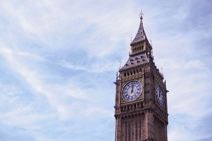 Time Clock Tower Clock Architecture Tower Travel Destinations Low Angle View Built Structure Building Exterior Sky Cloud - Sky Cultures Outdoors Day City No People Clock Face Minute Hand London Bigben Westminster Sony Sony A6000