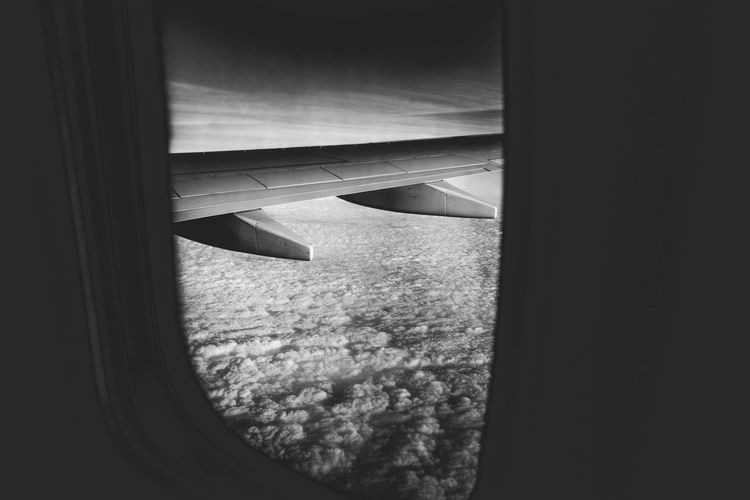 Black and White Window Aerial View Air Vehicle Aircraft Wing Airplane Airplane Wing Black And White Cityscape Close-up Day Indoors  Journey Landscape Looking Through Window Mode Of Transport Nature No People Sea Sky Transportation Travel Window