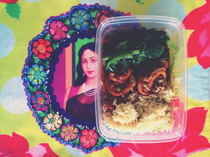 Workaway Lunch 🍴 totally inspired by Vegetables Fish Rice 🇮🇹 Sofiavicchi Sofiavicchiconceptdesign Indian Colours Food Lunch Time! Break Spinach Pies Health Healthy Eating