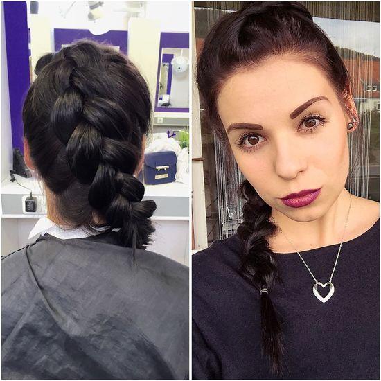 Heute mal einen DutchBraid vom Friseur 😁👌🏼 dazu noch Purple Lipstick und der Look ist Perfect ☺️☺️
