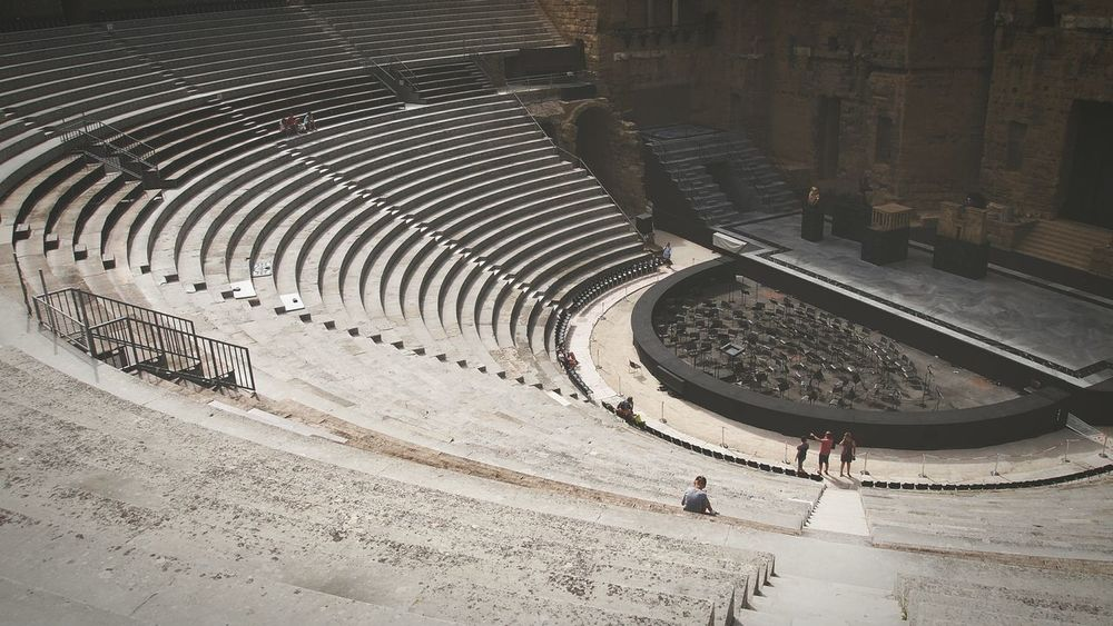 Roman theatre, Orange France Orange Romans Roman Theatre Steps Grey Archeology Architecture_collection Architecture Beautiful View From Above View Backgrounds Ancient Civilization Outdoors Loneliness Travel Destinations Beauty Tranquil Scene Panorama EyeEm Best Shots EyeEm Gallery Eyeemphotography History F1 Filter Lost In The Landscape