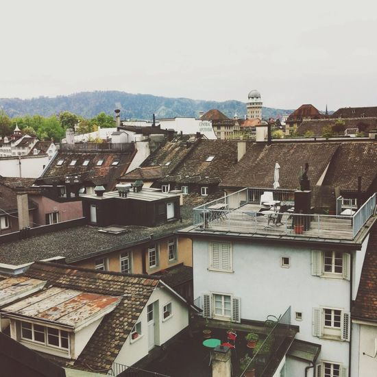 View from my hotel room. Hotel View Roof Zürich