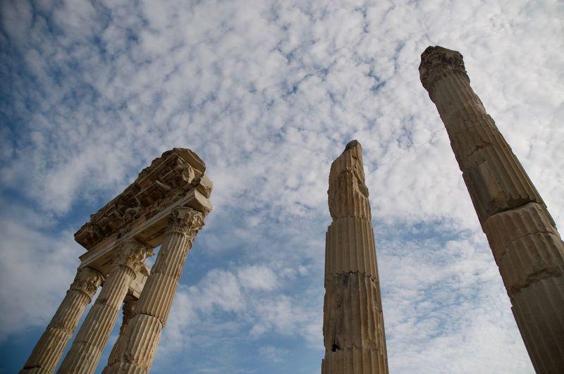 Pergamon Pergamon Architecture Sky Built Structure Low Angle View Cloud - Sky Building Exterior Architectural Column