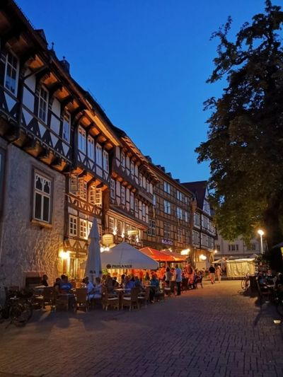 Summer in Goslar City Cityscape Illuminated Nightlife History Town Square Façade Dusk Sky Architecture Tree Topper Old Town Townhouse