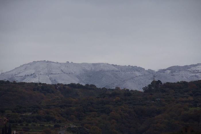 The View From My Window Mountains Snow Reggio Di Calabria ReggioCalabria my mountains