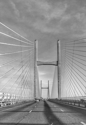 Took on the Severn bridge on the way back from Wales Severn Bridge Eyeemphotography Eyeem Photography EyeEm Masterclass The Minimals (less Edit Juxt Photography) Eyeem4photography See The World Through My Eyes Eye4photography  Architecture Bridges Bridges_aroundtheworld B&w Photography EyeEm Best Shots - Black + White Blackandwhite Photography Eyeem Black And White EyeEm BlackandWhite Black And White Creative Light And Shadow Creative Light And Shadow Shades Of Grey Black And White Photography Monocrome Check This Out Samsungphotography Showcase: January The Architect - 2016 EyeEm Awards