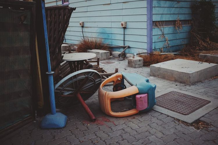 Abandoned toy from the amusement water park.