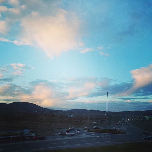 In ♡ with the after work sky :-))
