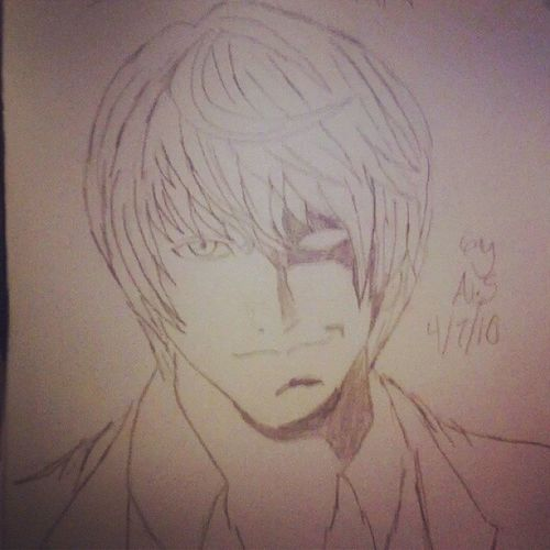 I am..Kira Anime Shonenjump DeathNote Lightyagami Kira ArtWork Sketch FavoriteAnime Suchbeauty