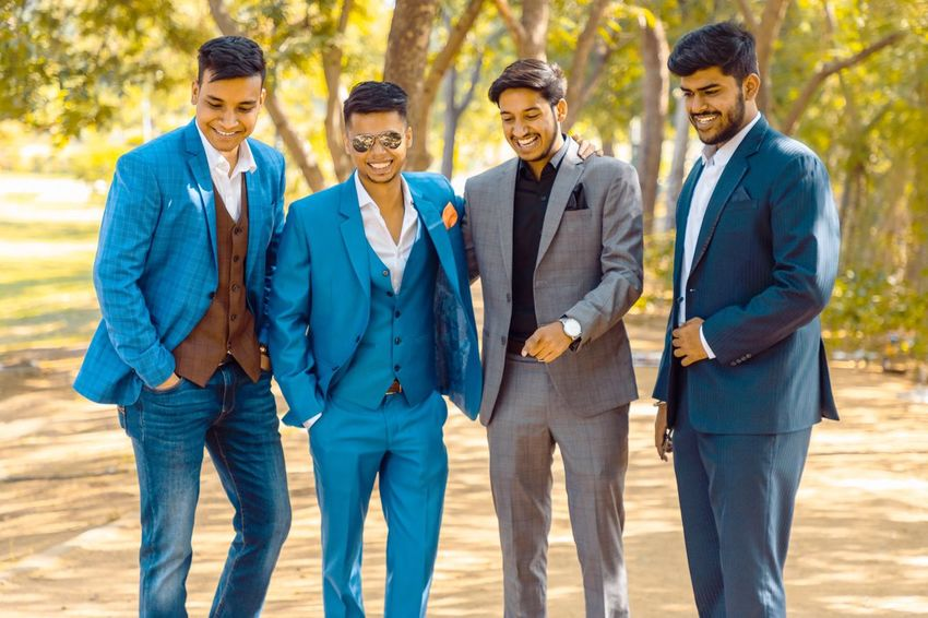 Moments Reid And Taylor Raymonds Models Boot Suit Group Of People Males  Adult Young Adult Men Togetherness Young Men Businessman Friendship Standing Business Glasses People Day Communication Business Person Outdoors Coworker Human Connection Moments Of Happiness