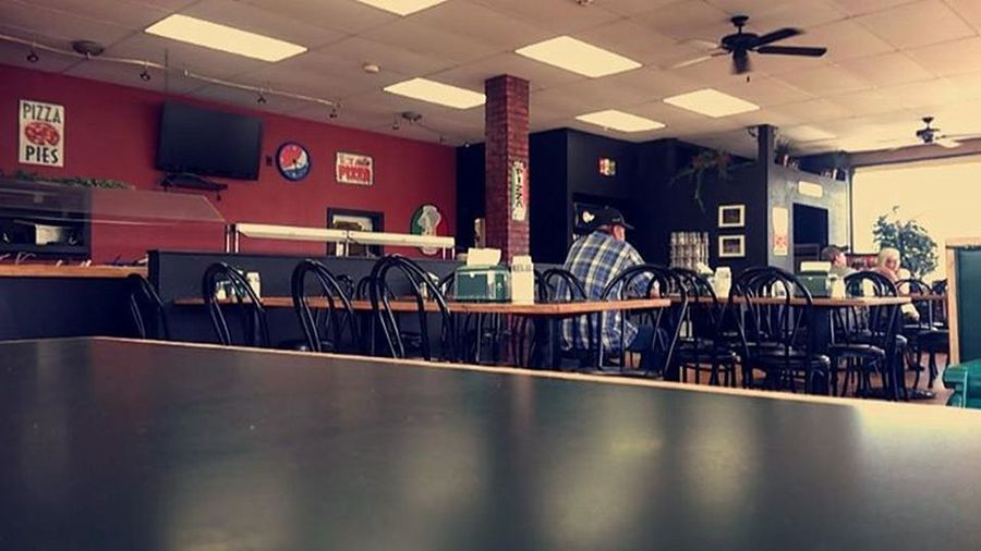 Pizza Shop Pizza People Eat Eating Out Eating Junk Food Restaurant Tables Table