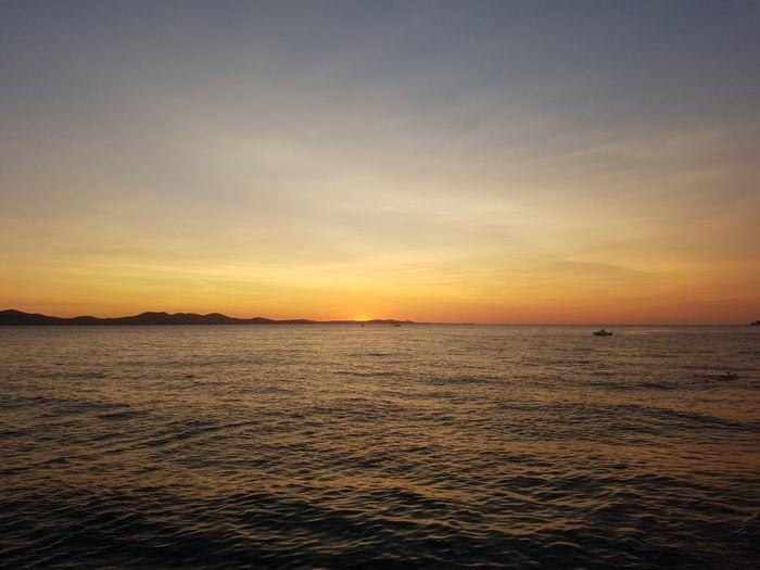 sunset in Croatia Croatia Zadar Sea Landscape Tranquility Scenics Nature Beach Water Sky Horizon Sun Cloud - Sky Sand Summer No People Vacations